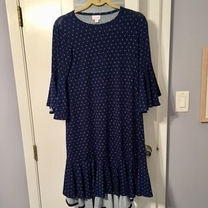 Lularoe polka dot Maurine Dress
